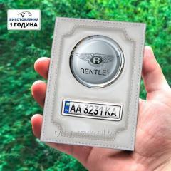 Обложка для документов на машину с лого и номером вашего автомобиля + брелок с номером в подарок (изг за 1 ч)