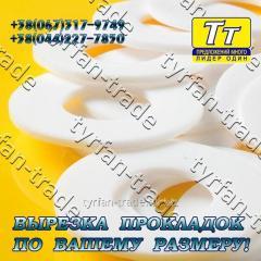 Прокладка фланца ду-100 (паронит, резина, фторопласт, тефлон) вырезка прокладок по вашему индивид. Размеру