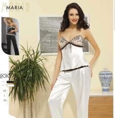 "Женская пижама из атласа ""Мария"""