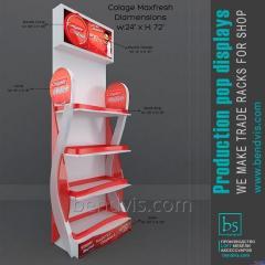 Рекламная стойка напольная