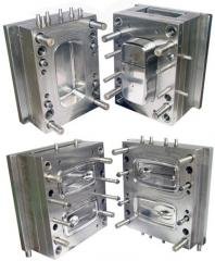 Compression molds for the thermoforming, vacuum