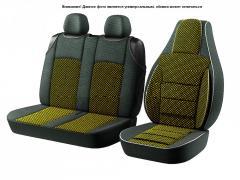 Чехлы сидения Pilot 2+1 Бус Газель ткань черная +