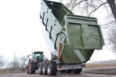 The tractor dumping TSP-33 trailer loading