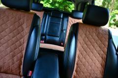 Накидки на сидения авто алькантара ромб коричневые