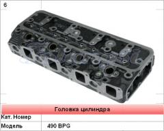 The cylinder head for engines 490 BPG of loaders
