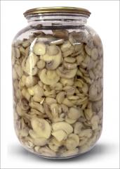 Champignons the sterilized reasonable 1500 ml