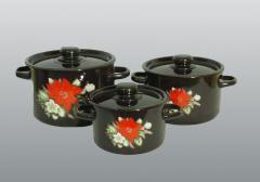 Посуда бытовая Красный цветок