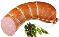Шпагат упаковочный  для обвязки копченой рыбы, мяса и колбас.
