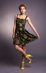 Платье шелковое, осень 2012