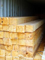 Wooden beam 200х200 length of 6, 7 and 8 meters