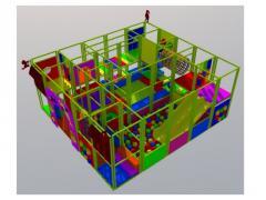 Labyrinth of children's 5х4 m