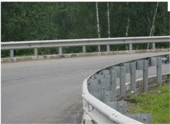 Anticollision barriers protections road metal