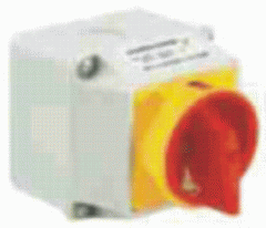 The cam rotary switch, EMERGENCY, MAIN, 32A, in the protective body. LKSM, SMART type, Poland