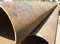 Seamless steel pipes 530х7, metal, low price
