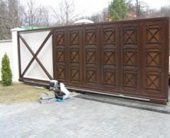 Gate are sliding automatic
