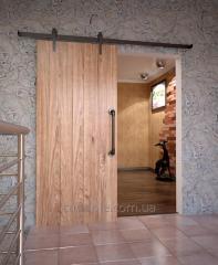 Раздвижные двери из натурального дерева с...
