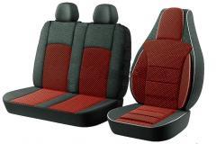 Модельные чехлы на сидения бус 2+1 черные...