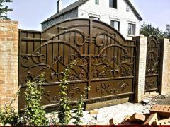 Кованные и решетчатые ворота откатные