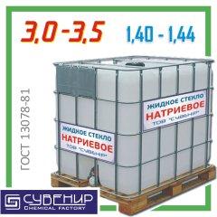 Стекло жидкое натриевое — модуль 3,0÷3,5, ρ=1,40÷1,44 ГОСТ 13078-81