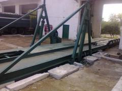 Conveyors are reception. Platform of autoreception