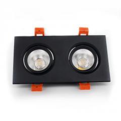 LED светильник потолочный чёрный двойной 5W угол