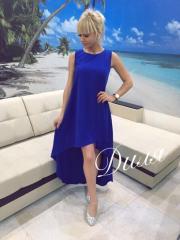 Женское Платье шлейф микромасло электрик 7 цветов