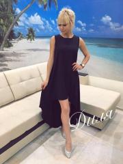 Женское Платье шлейф микромасло черное 7 цветов