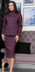 Женский утепленный костюм2-ка кофта+юбка миди