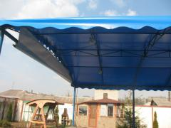 Awning folging for years cafes