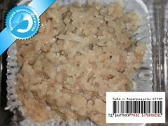 Minced fish (from fillet of bull-calves) food