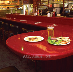 Bar counters from an artificial stone