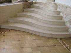 Steps from an artificial stone