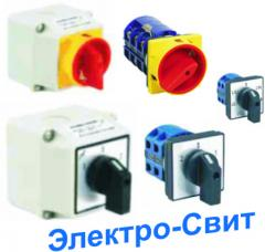 Switches and ganged switches, 10-63A. Different