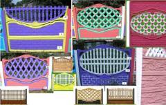 Заборы бетонные декоративные от производителя