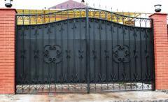 Ворота кованые изготовление монтаж установка