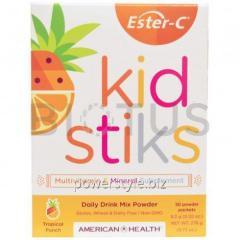 Поливитамины для детей (Ester-C Kidstiks),