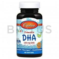 Рыбий жир для детей, Kids Chewable DHA, Carlson