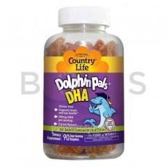 Рыбий жир для детей, DHA, Country Life, 3 вкуса,