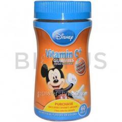 Витамин С для детей, Микки, Vitamin C+ Gummies,