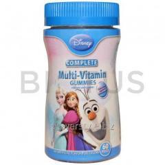 Витамины для детей, (Multi-Vitamin), Disney, xолодное сердце, 60шт