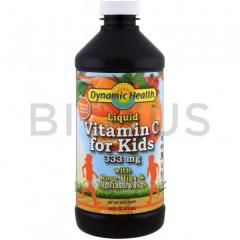 Витамин C для детей, Liquid Vitamin C, Dynamic Health Laboratories, жидкий, 473 мл