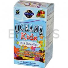 Рыбий жир для детей, Oceans Kids, DHA, Garden of