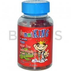 Витамины для детей (Multi-Vitamin), Gummi King, без сахара, 60 таблеток
