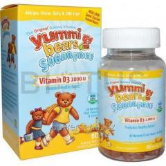 Витамин D3 без сахара для детей, Yummi Bears,