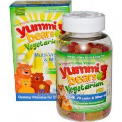 Витамины для детей, Hero Nutritional, мишки Ямми,