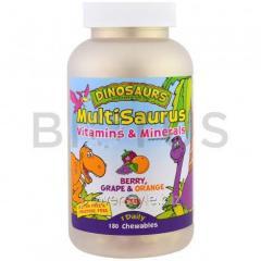 Мультивитамины для детей, MultiSaurus, KAL,