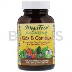 Витамин В, комплекс для детей, Kid's B Complex, MegaFood, 30 таблеток