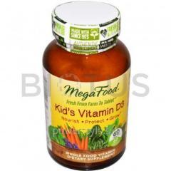 Витамин Д3 для детей, MegaFood, 60 таблеток