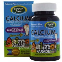 Жевательный кальций для детей, Calcium, Nature's