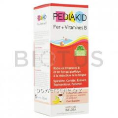 Железо и витамин В, сироп для детей, (Iron + Vitamin B ), Pediakid, 125 мл